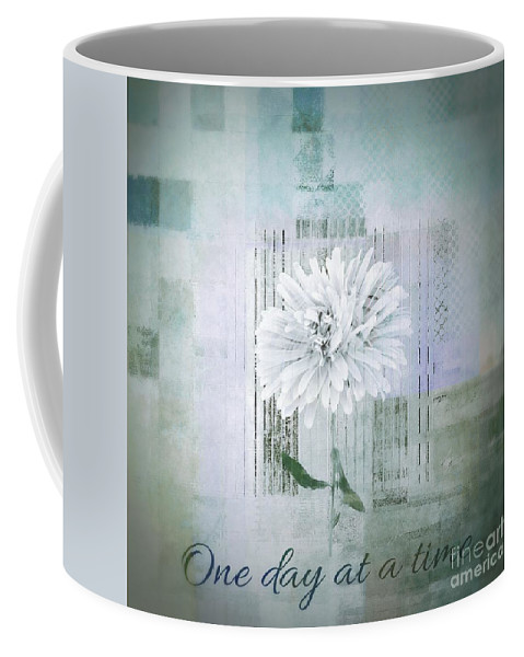 Gray Coffee Mug featuring the digital art Abstractionnel - 334d1 by Variance Collections