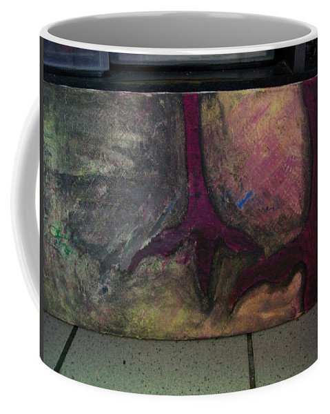 Crow Coffee Mug featuring the painting Abstracty Crows Feet by Laurette Escobar