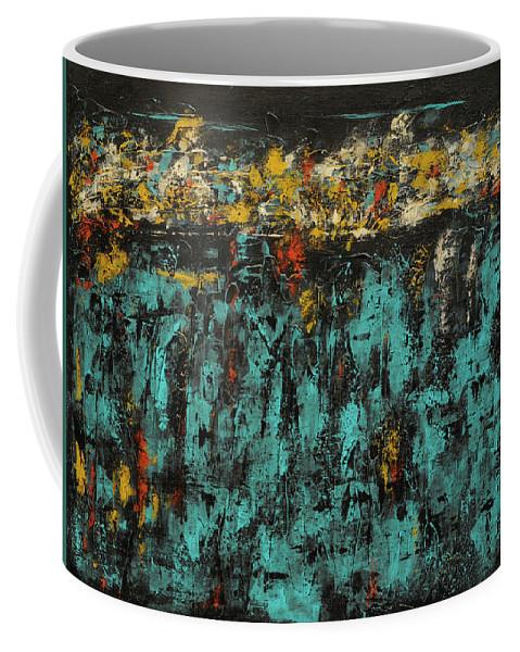 Acrylic Coffee Mug featuring the painting Abundance by Jim Benest