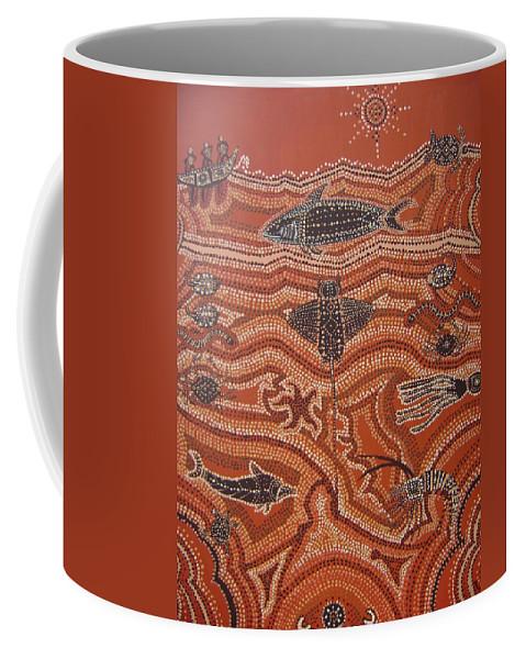Sea Creatures Coffee Mug featuring the painting Abundant Life Downunder by Laura Johnson