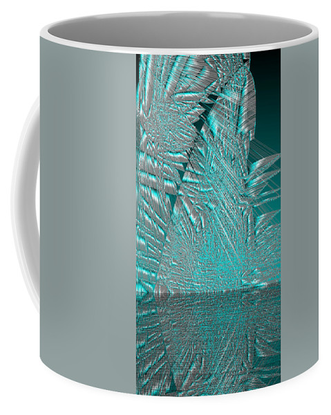 Rithmart Abstract Lines Organic Random Computer Digital Shapes Acanvas Art Background Colors Designed Digital Display Images One Random Series Shapes Smooth Spiky Streaming Three Using Coffee Mug featuring the digital art Ac-7-104-#rithmart by Gareth Lewis