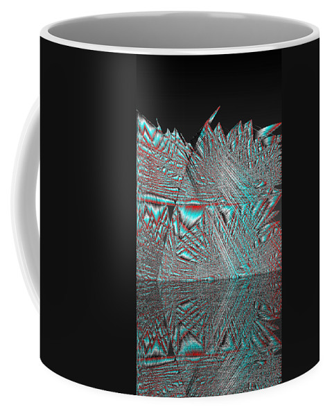 Rithmart Abstract Lines Organic Random Computer Digital Shapes Acanvas Art Background Colors Designed Digital Display Images One Random Series Shapes Smooth Spiky Streaming Three Using Coffee Mug featuring the digital art Ac-7-105-#rithmart by Gareth Lewis
