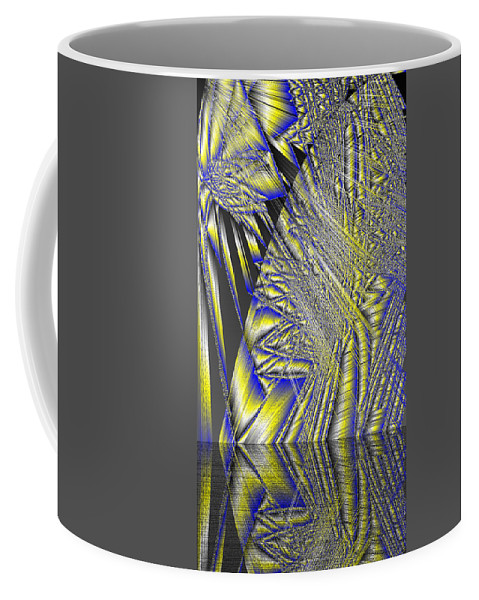 Rithmart Abstract Lines Organic Random Computer Digital Shapes Acanvas Art Background Colors Designed Digital Display Images One Random Series Shapes Smooth Spiky Streaming Three Using Coffee Mug featuring the digital art Ac-7-108-#rithmart by Gareth Lewis