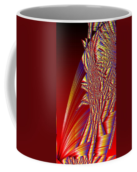 Rithmart Abstract Lines Organic Random Computer Digital Shapes Acanvas Art Background Colors Designed Digital Display Images One Random Series Shapes Smooth Spiky Streaming Three Using Coffee Mug featuring the digital art Ac-7-110-#rithmart by Gareth Lewis