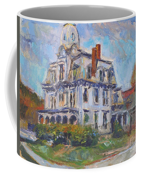 Landscape Coffee Mug featuring the painting Academy House by Marc Poirier