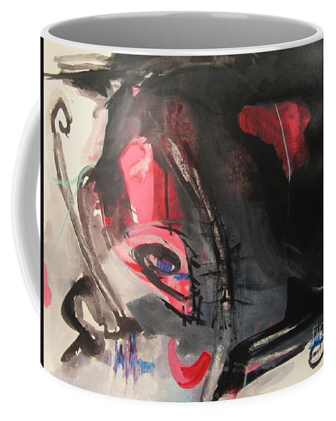 Abstract Paintings Paintings Abstract Art Paintings Coffee Mug featuring the painting Accessible To Nobody by Seon-Jeong Kim