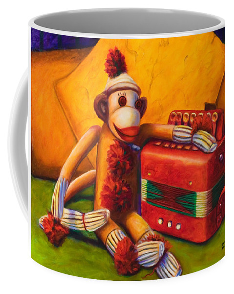 Children Coffee Mug featuring the painting Accordion by Shannon Grissom