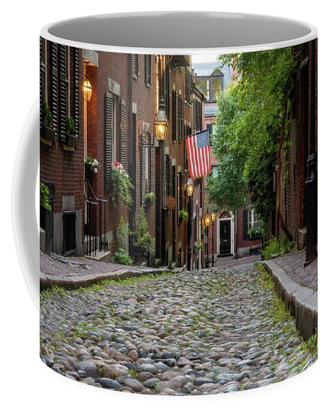 Acorn St. Coffee Mug featuring the photograph Acorn St. Boston Ma. by Michael Hubley