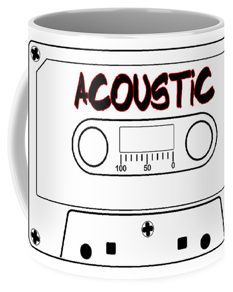 Acoustic Coffee Mug featuring the digital art Acoustic Music Tape Cassette by Bigalbaloo Stock