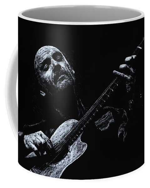 Musician Coffee Mug featuring the pastel Acoustic Serenade by Richard Young