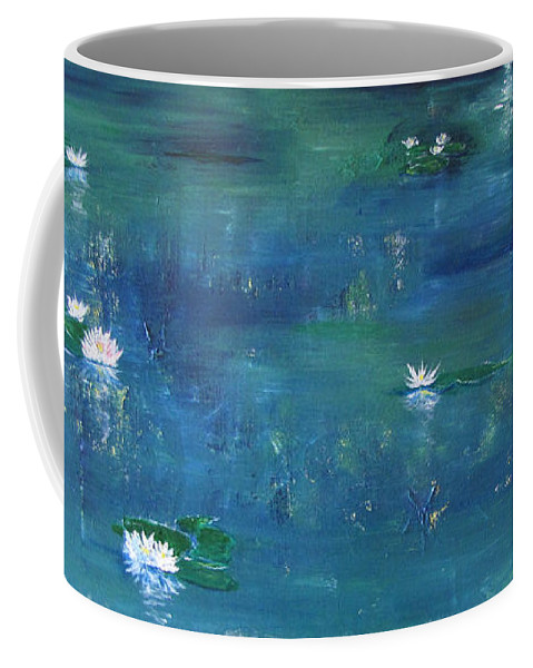 Lily Coffee Mug featuring the painting Across The Lily Pond by Gary Smith