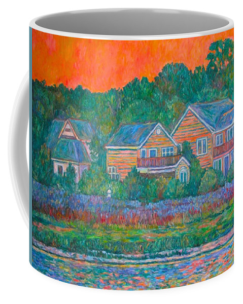 Landscape Coffee Mug featuring the painting Across The Marsh At Pawleys Island    by Kendall Kessler