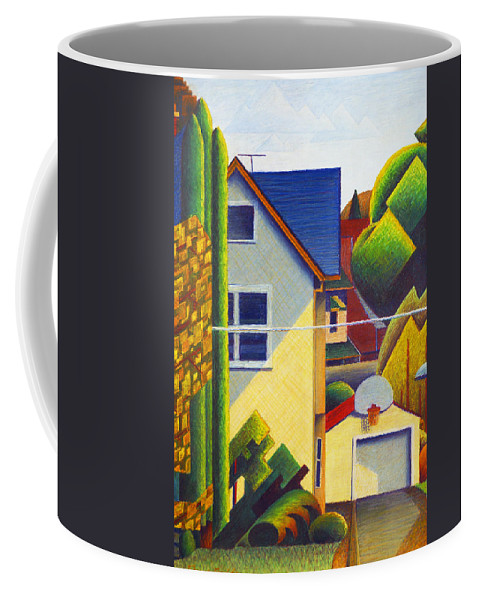 Bruce Bodden Coffee Mug featuring the drawing Across The Street From The Painting Studio #2 by Bruce Bodden