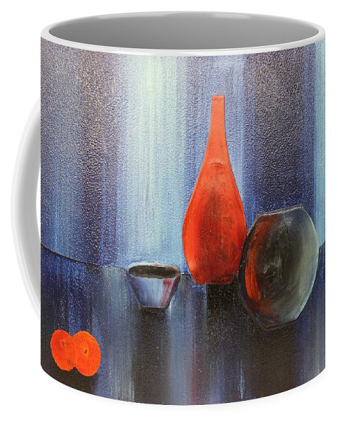 Originals Coffee Mug featuring the painting Acrylic 3d Msc 009 by Mario Sergio Calzi