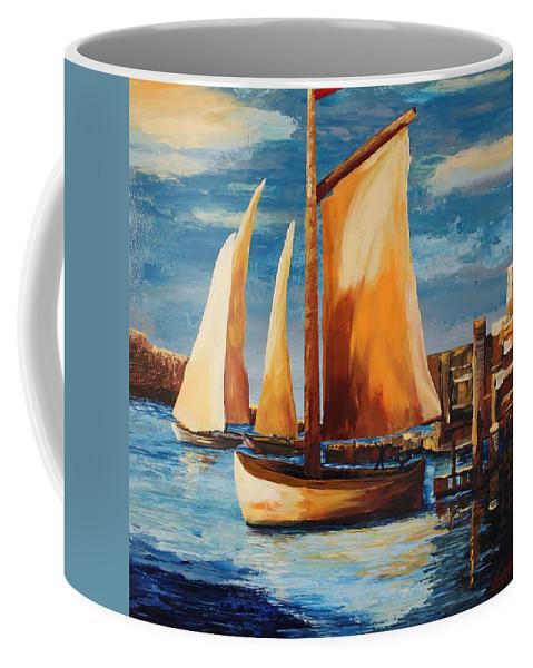 Originals Coffee Mug featuring the painting Acrylic Msc 239 by Mario Sergio Calzi