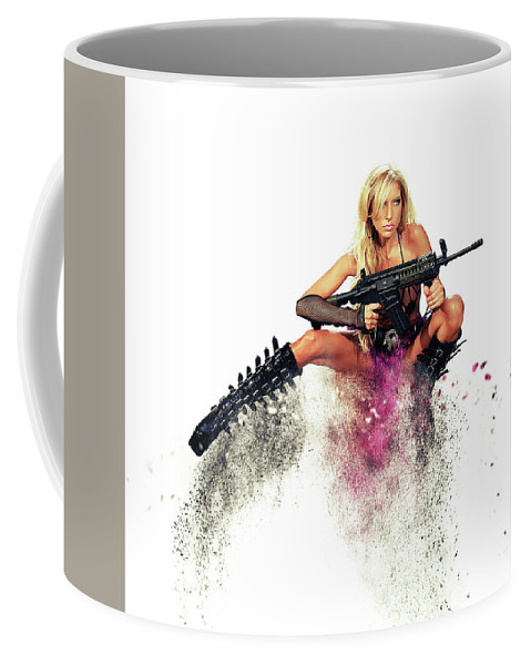 Action Girl Coffee Mug featuring the photograph Action Girl by Smart Aviation