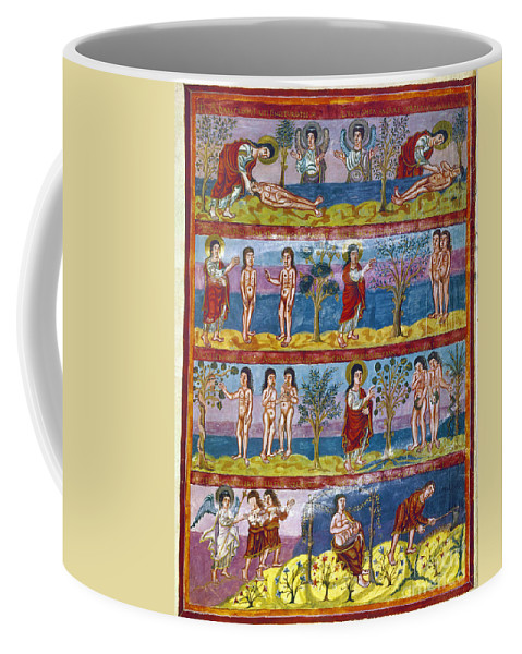 9th Century Coffee Mug featuring the photograph Adam And Eve. 9th Century by Granger