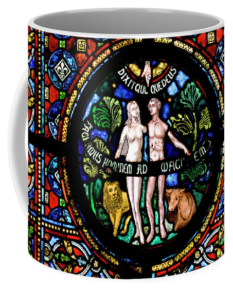 Dinant Coffee Mug featuring the photograph Adam And Eve, Dinant by Phil Robinson