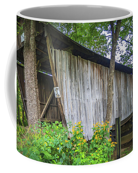 Adams Coffee Mug featuring the photograph Adams/san Toy Covered Bridge by Jack R Perry