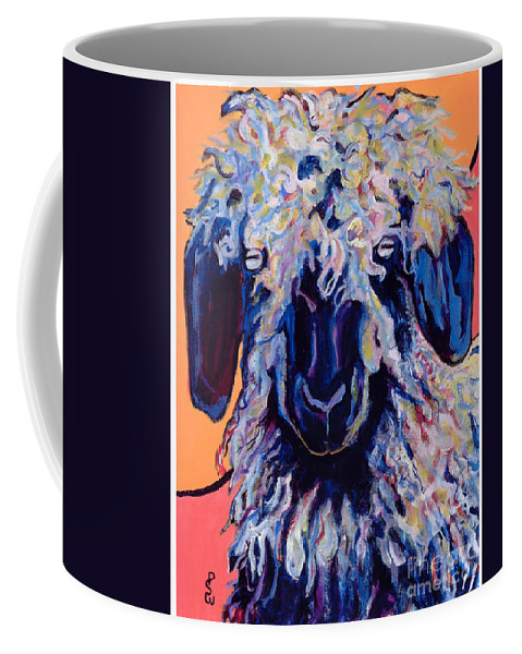Goat Print Coffee Mug featuring the painting Adelita  by Pat Saunders-White