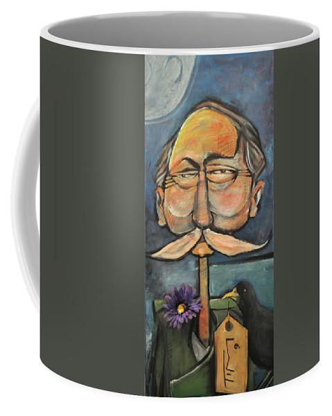 Bird Coffee Mug featuring the painting Admiral Bird by Tim Nyberg