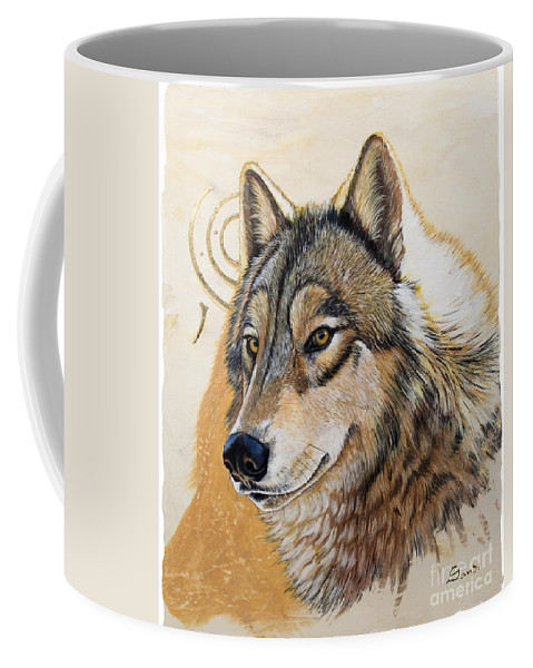 Acrylics Coffee Mug featuring the painting Adobe Gold by Sandi Baker