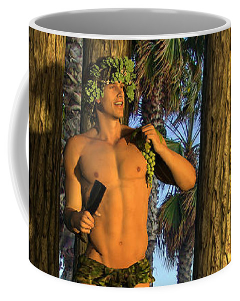 Adonis Coffee Mug featuring the mixed media Adonis At Sunset by Quim Abella