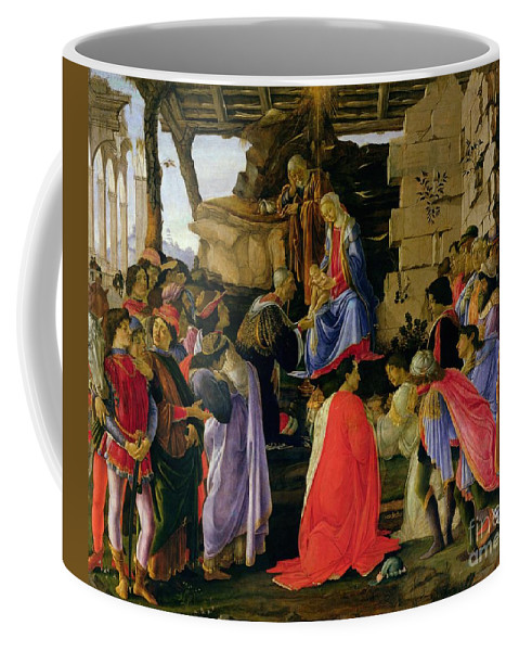 Adoration Coffee Mug featuring the painting Adoration Of The Magi by Sandro Botticelli