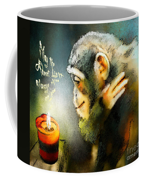 Advent Coffee Mug featuring the painting Advent Light by Miki De Goodaboom