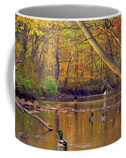 Adventure Coffee Mug featuring the photograph Adventure And Discovery by Frozen in Time Fine Art Photography