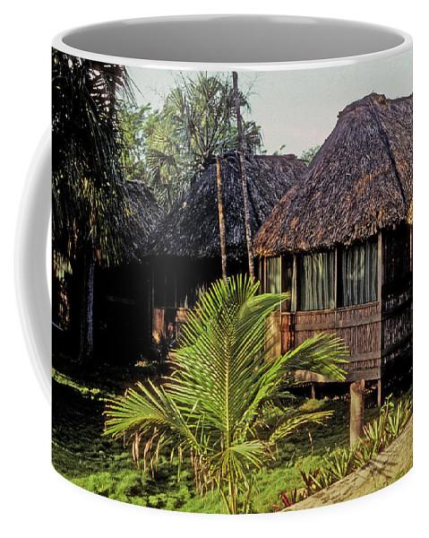 Belize Coffee Mug featuring the photograph Adventure Inn by Gary Wonning