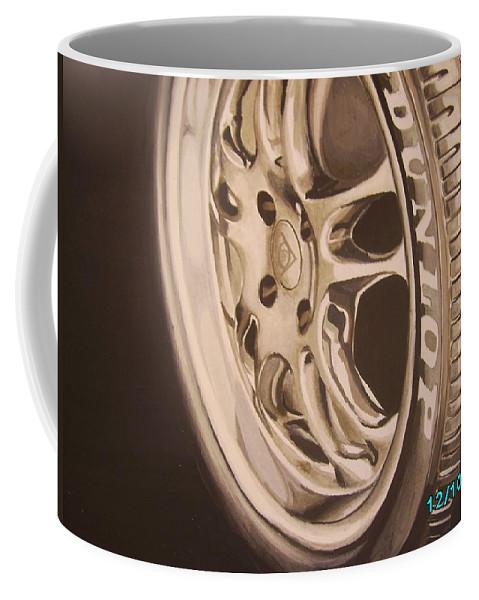 Graphic Coffee Mug featuring the digital art Advert by Olaoluwa Smith