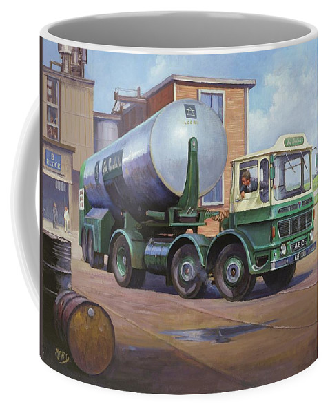 Painting For Sale Coffee Mug featuring the painting Aec Air Products by Mike Jeffries