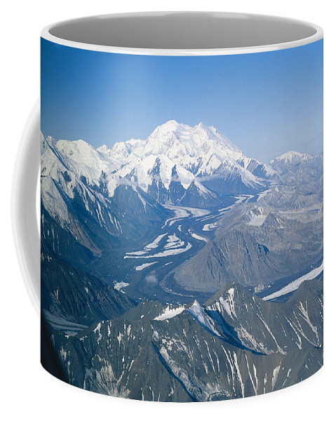 North America Coffee Mug featuring the photograph Aerial Of Mount Mckinley by Rich Reid