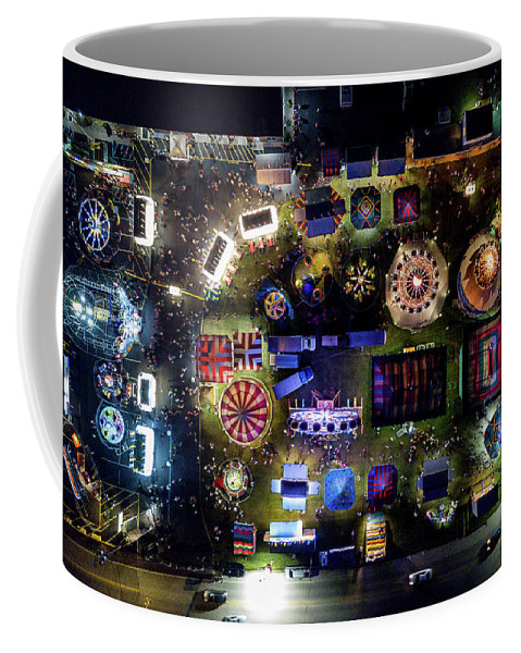 Don Valentine Photography Coffee Mug featuring the photograph Aerial View Of Norco Fair - Pottstown Pa by Don Valentine