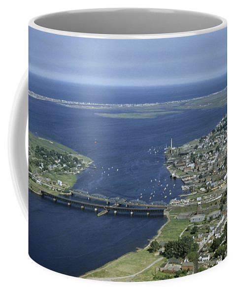Outdoors Coffee Mug featuring the photograph Aerial View Of The Mouth Of Merrimack by Jack Fletcher