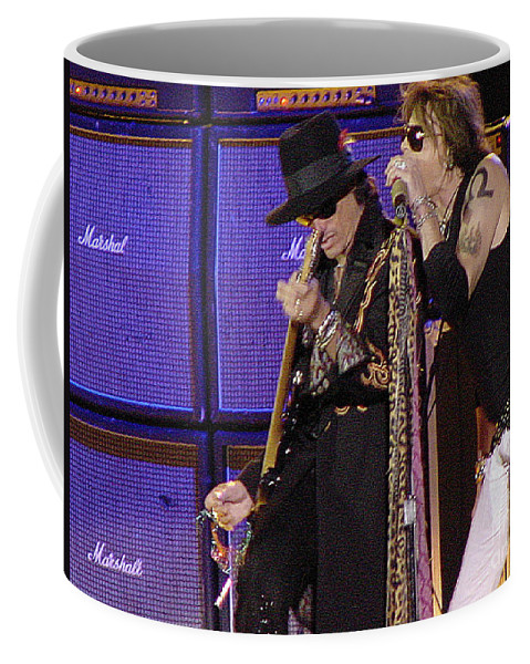 Aerosmith Coffee Mug featuring the photograph Aerosmith - Steven Tyler -dsc00015 by Gary Gingrich Galleries
