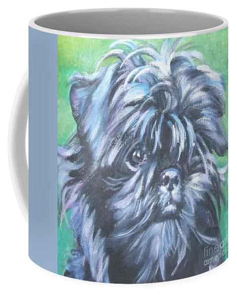 Dog Coffee Mug featuring the painting Affenpinscher Portrait by Lee Ann Shepard