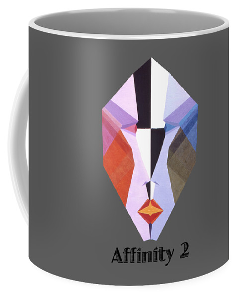 Painting Coffee Mug featuring the painting Affinity 2 text by Michael Bellon