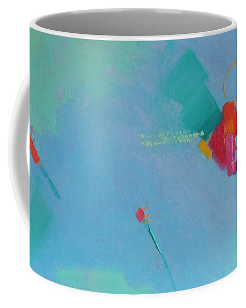 Abstract Coffee Mug featuring the painting Afloat by Gayle Levee
