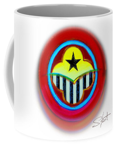 African Coffee Mug featuring the painting African American Button by Charles Stuart