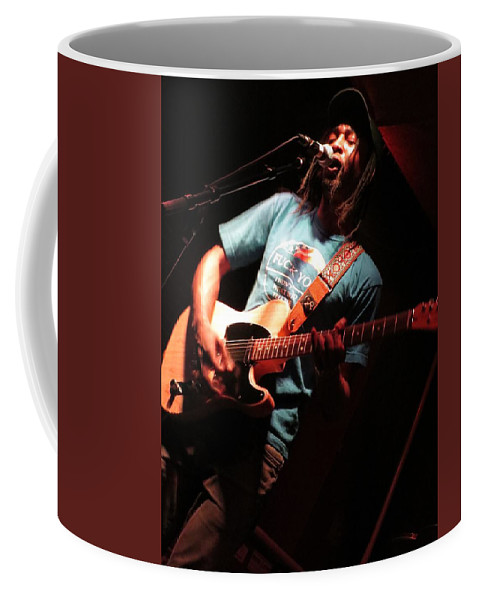 Live Music Coffee Mug featuring the photograph African Americana Live by Aaron Martens