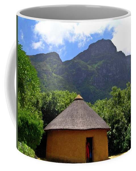 Africa Coffee Mug featuring the photograph African Hut South Africa by Douglas Barnett
