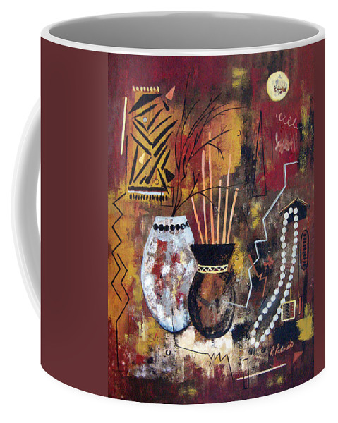 Abstract Coffee Mug featuring the painting African Perspective by Ruth Palmer
