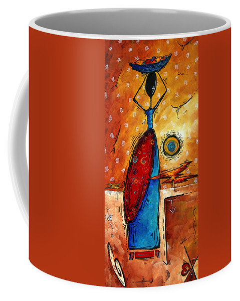 Abstract Coffee Mug featuring the painting African Queen Original Madart Painting by Megan Duncanson