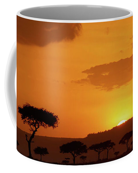Africa Coffee Mug featuring the photograph African Sunrise by Sebastian Musial
