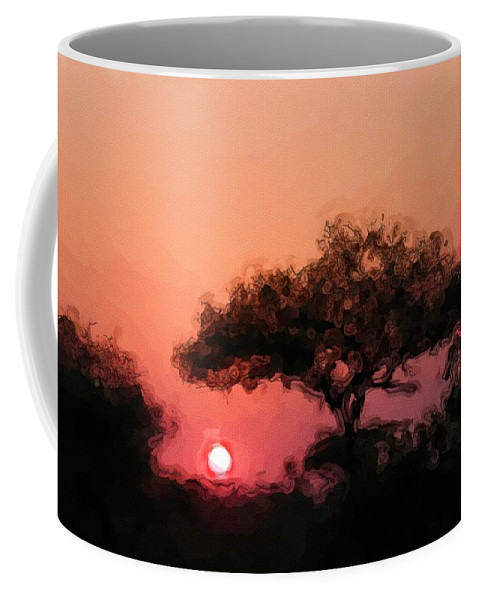 Digital Photography Coffee Mug featuring the photograph African Sunset by David Lane