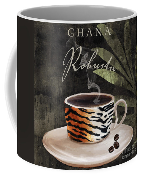 African Coffees Coffee Mug featuring the painting Afrikan Coffees II by Mindy Sommers
