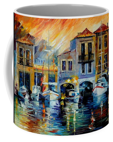 Afremov Coffee Mug featuring the painting After A Day's Work by Leonid Afremov