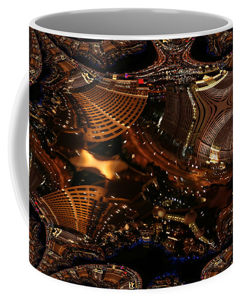 Las Vegas City The Strip Night Photograph Belagio Paris Caesars Palace Night Life Coffee Mug featuring the photograph After A Night In Vegas by Andrea Lawrence